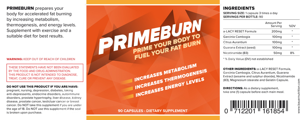Primeburn-label